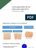 1.2.4. Mecanismos Cristalinos y No Cristalinos