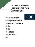 TERIMA JASA BERKAITAN DENGAN KOMPUTER DAN SMARTPHONE.docx