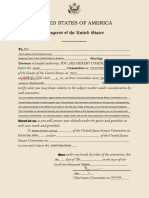 U.S. Congress- Subpoena of user