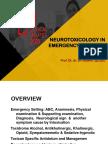 Neurotoxicology in Emergency Settings