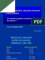 Aborto Clandestino, Derechos Humanos y Salud Pública
