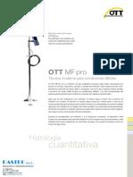 Mf Pro Caudalimetro Electro Magnetico Inductivo Aguas Subterraneas Ott Hydromet