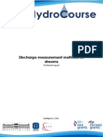 Discharge Measurement Methods for Streams (en)