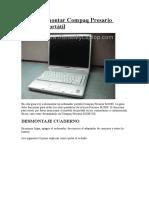 Cómo desmontar Compaq Presario M2000 portátil.doc