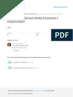 Que Relacion Hay Entre Filosofia y Psiquiatria