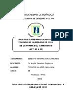 Tratado de La Habana 1928 Original