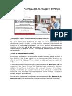 Info clases particulares de francés en línea enero 2018