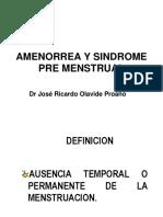 Amenorrea y Sindrome Premenstrual