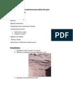 Procedimiento-Practica Analisis Del Suelo