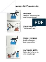 Gambar Cara Penggunaan Alat Pemadam API