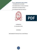 5. Procedimiento Por Delito de Acción Privada.-2018.- Jonathan Funes.
