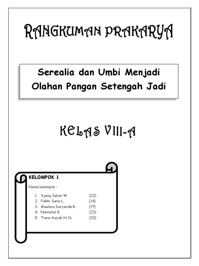 Tugas Rangkuman Prakarya Serealia