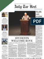 The Daily Tar Heel for September 21, 2010