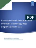 it department curriculum report