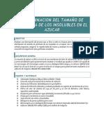 Determinacion Del Tamaño de Particula de Los Insolubles en El Azucar (Metodo Incauca) - Modificado
