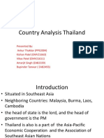 Country Analysis Thailand