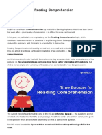 Time Booster for Reading Comprehension