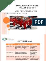 Cronograma de Actividades Culturales 2017- 2018