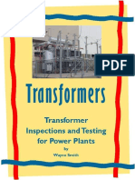 Transformer Inspection and Testing (Electrical Power Plant Maintenance Book 1) - Wayne Smith