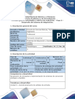 Guia de Actividades y Rubrica de Evaluacion Paso 3 - Desarrollo Del Sistema de Adquisición