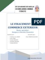 Le Finacement Du Commerce Exterieur