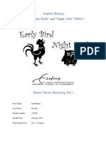 Master Thesis_How Do Early Birds and Night Owl Differ