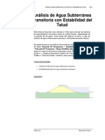 Transient Slope Stability (Spanish)