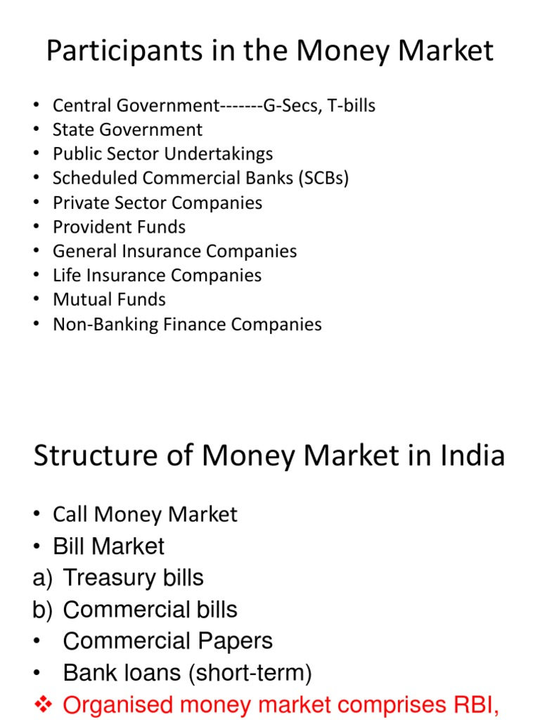 commercial bill market in india