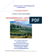 E-learning Material Geomorphology f