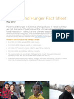 Poverty and Hunger Fact Sheet