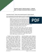 Produtividade Do Pimentão Amarelo, Capsicum Annuum L., Cultivado Em Ambiente Protegido, Em Função Do Potencial Mátrico de Água No Solo.