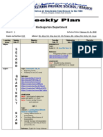 weekly plan kg2 feb