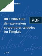 Dictionnaire Des Expressions Et Tournures Claquées Sur l'Anglais