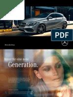 Mercedes Benz a Class w176 Brochure 6306 de 07 2016