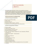 Restricción de Crecimiento Intrauterino