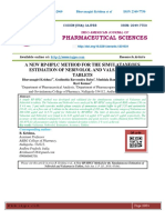 A NEW RP-HPLC METHOD FOR THE SIMULATANEOUS ESTIMATION OF NEBIVOLOL AND VALSARTAN IN TABLETS