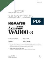 Shop Manual WA800-3