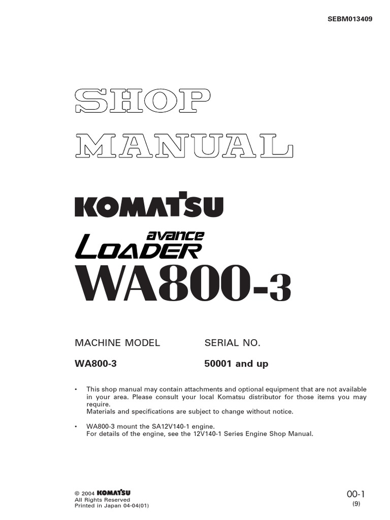 Shop Manual WA800-3 | Troubleshooting | Electrical Connector