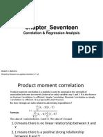Ch 17 Correlation vs Regression