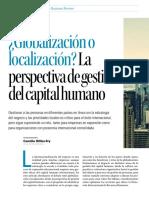 Globalización o localización_ La perspectiva de gestión del capital humano