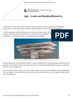 Inclined Columns Design - Loads and Bending Moment in Inclined Column