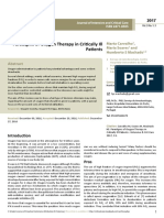 Paradigms of Oxygen Therapy in Critically Ill Patients
