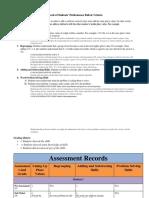 assessment records