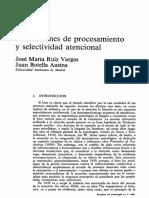 Limitaciones de Procesamiento y Selectividad Atencional