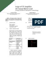 Design of CS Amplifier