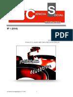 CON-CIENCIA SOCIAL Nº 1 (SEGUNDA ETAPA) 2018