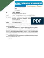 CARTA N° 06 - REMITO EXPEDIENTE TÉCNICO AL CONSULTOR DE PISTAS Y VEREDAS DE SACHAVACA