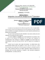 Enfants Issus de l'immigration Subsaharienne ,CEBADAC