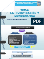 La Investigación Monografica