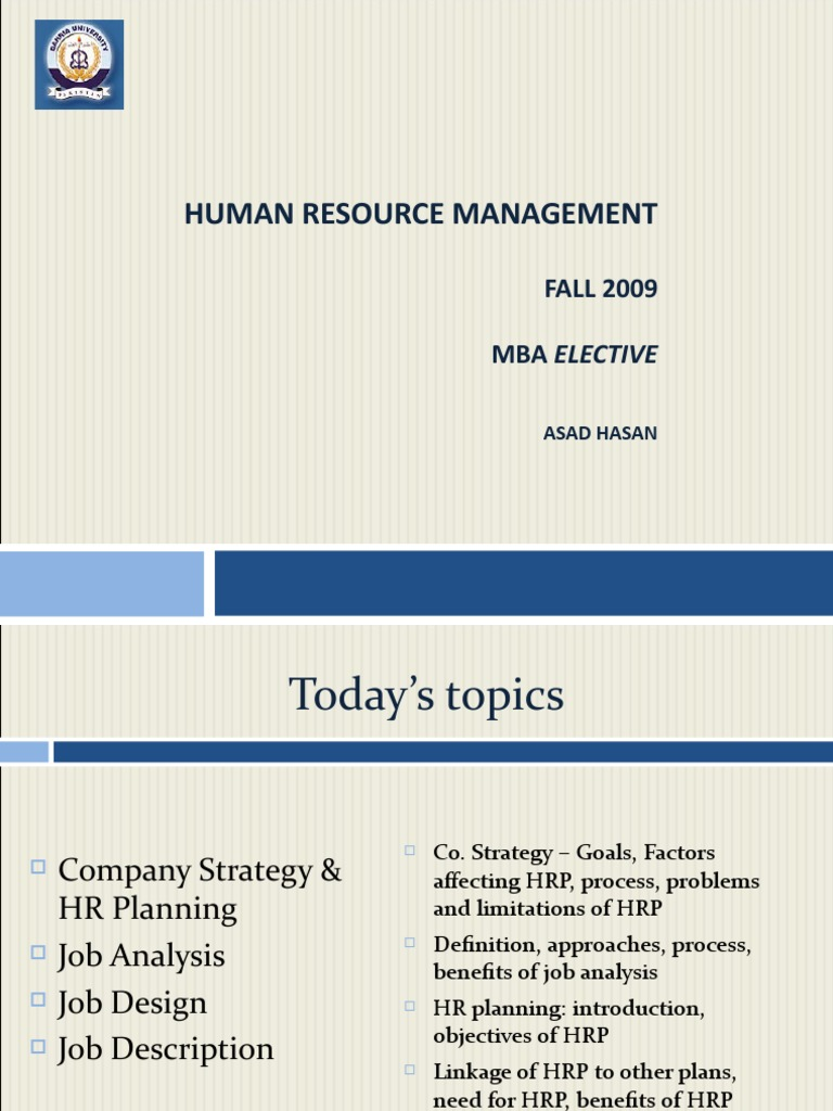 Approaches to human resource planning pdf
